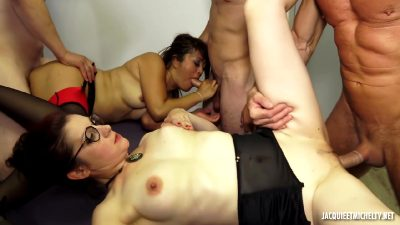 Bitches At Work – French Group Fuck