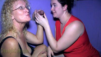 Gilf Cathy And Her Sexmate Wait For Gloryhole Dicks