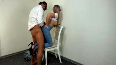 Girl In Ripped Jeans Gets Cumshot On Nice Ass In Tight Jeans 22 Min