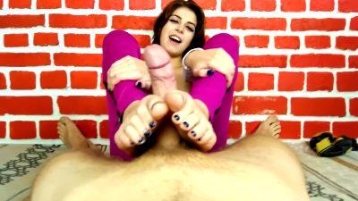 Miha Nika69 – Beautiful Footjob Cum On Feet 2