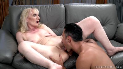 Nasty Mature Granny Seduces Younger Guy