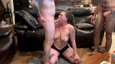 Slutwife Sharon Goes Wild With Big-dicked Sexmates